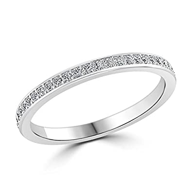 0.20carat Round Brilliant Cut Diamond Half Eternity Wedding Ring in 950 Platinum