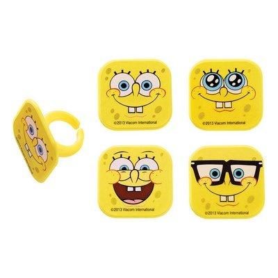 Spongebob Squarepants Mood Faces Cupcake Rings - 24 pcs - 1