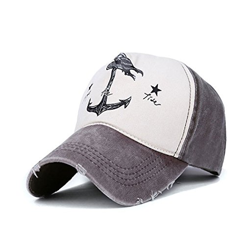 King Star Women Anchor Adjustable Vintage Patchwork Snapback Baseball Cap Brown (Fitted Hats 39 compare prices)