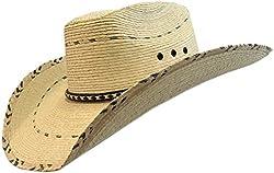 BULL-SKULL HATS, PALM LEAF COWBOY HAT, SECONDS 404