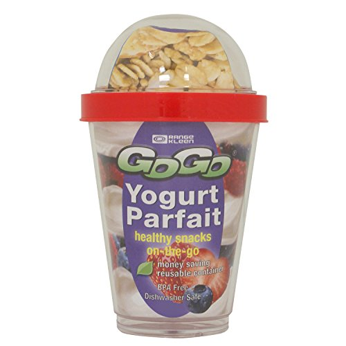 Range Kleen Go Go Yogurt Parfait Container, 13-Ounce