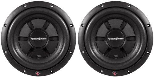 "Pair Of (2) Rockford Fosgate R2Sd2-10 10"" 800 Watt Prime R2 Dual 2 Ohm Voice Coil Shallow Subwoofers"