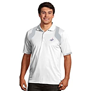 Los Angeles Dodgers Fusion Polo (White) by Antigua