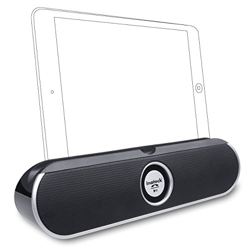 Inateck® Wireless 10W Stereo Bluetooth Portable Speaker Built-In Hands Free Speakerphone And Rechargable Battery Works With Iphone, Samsung, Nexus, Ipod, Ipad, Mp3 Player, Tablet Pc, Laptop, Computers, Android Smartphones And More Bluetooth Enabled Device