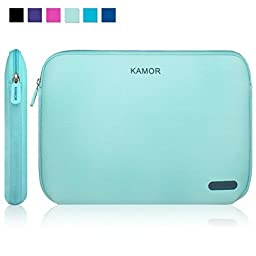 Kamor 13 13.3 14 inch Water-resistant Neoprene Laptop Sleeve Case Bag/Notebook Computer Case/Briefcase Carrying Bag/Skin Cover for Acer/Asus/Dell/Fujitsu/Lenovo/HP/Samsung/Sony/Toshiba(Green)