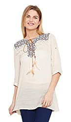 Meee Women's Wrap Top (MEEE-010008_off-white_X-Large)