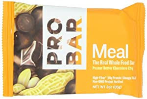 ProBar Meal Bar, Peanut Butter Chocolate Chip, 3 Ounce (Pack of 12)