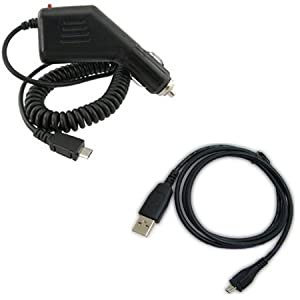 LG 840G Combo Rapid Car Charger + USB Data Charge Sync Cable for LG 840G