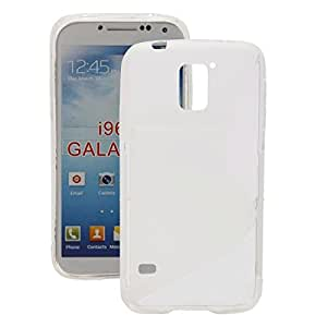 Unique S Type TPU Protective Case for Samsung S5/i9600 Transparent White