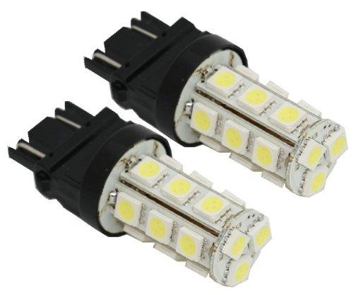 2Pcs 18-Smd 3157 T25 12V Brake Turn Signal Blinker Light Led Bulbs 3057 3457 4157 - Blue