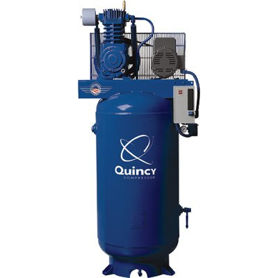 - Quincy Compressor Reciprocating Air Compressor - 5 HP, 230 Volt Single Phase, Model# 251CS80VCB