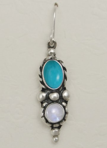A Beautiful Combination of Gemstones Featuring Turquoise and Rainbow Moonstone