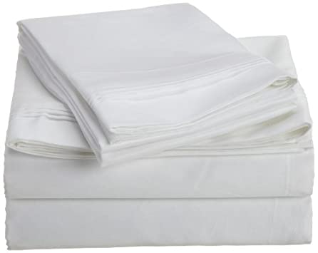 Egyptian Cotton 1000 Thread Count Oversized Queen Sheet Set Solid, White