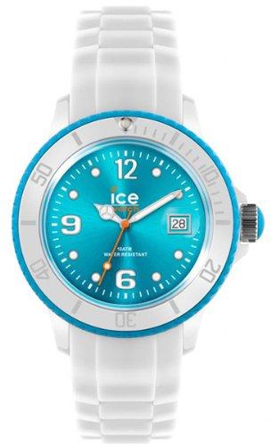 Ice-Watch SI.WT.B.S.11 - Orologio da polso da donna, cinturino in silicone colore bianco