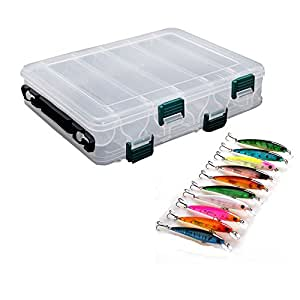 Fsing plastic fishing tackle box and minnow for Amazon fishing gear