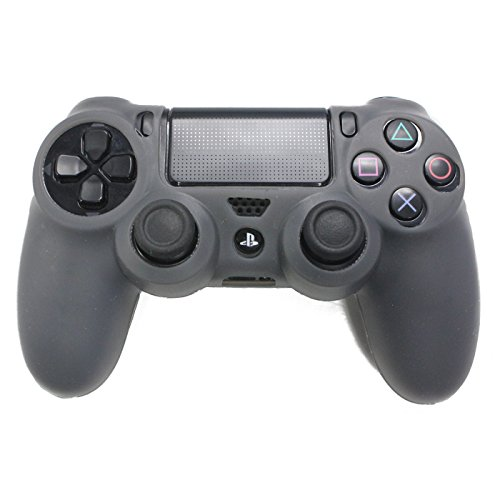 HDE PS4 Controller Skin Silicone Rubber Protective Grip for Sony Playstation 4 Wireless Dualshock Game Controllers (Gray) (Custom Skins For Ps4 compare prices)