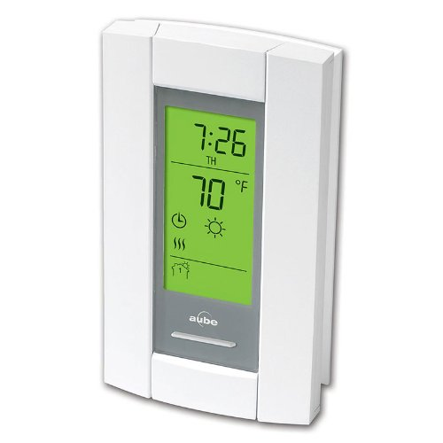 Aube Technologies TH115-A-120S 7-Day Programmable Line Voltage Thermostat for Electric Heating