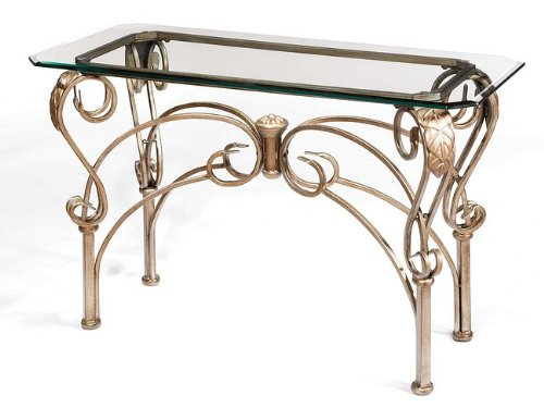 Cheap Bordeaux Bronze Pewter Finish Metal Console Sofa Table (HS-41610-49010)