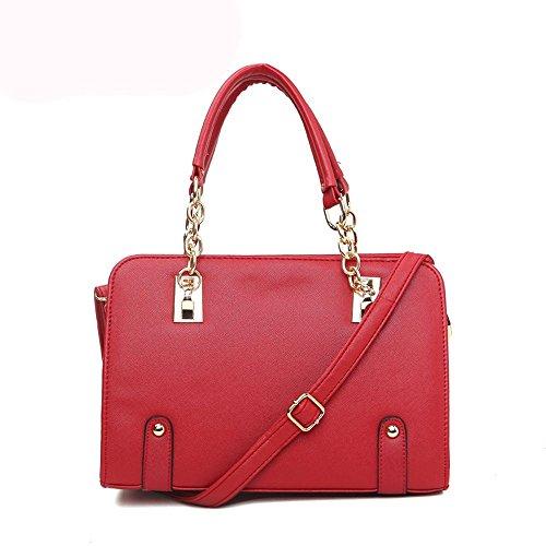 koson-man-con-struttura-in-pelle-da-donna-con-tracolla-maniglia-superiore-borsa-tote-bags-rosso-ross