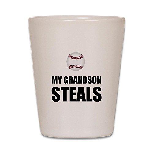CafePress - Grandson Steals Baseball - Shot Glass, Unique and Funny Shot Glass
