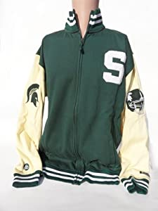 NCAA Michigan State Spartans Mens Varsity LetterMens Jacket, Green White, Small by Donegal Bay