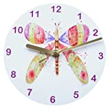Butterfly splash,clock,children's clock,girls clockby Tigerlilyprints.co.uk