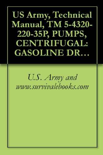 U.S. Army and www.survivalebooks.com - US Army, Technical Manual, TM 5-4320-220-35P, PUMPS, CENTRIFUGAL: GASOLINE DRIVEN, BASE M 2-INCH, 166 GPM, 25-FEET HEAD, (BARNES MODEL 10-MG), military manauals, special forces (English Edition)
