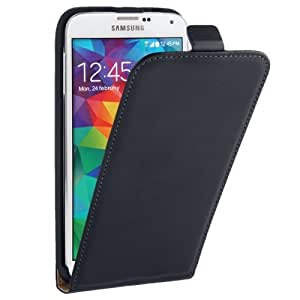 Vertical Flip Leather Case for Samsung Galaxy S5 G900 in Black
