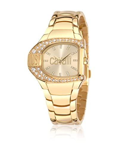 Just Cavalli Orologio al Quarzo Woman Jc Logo Dorato 29x36 mm