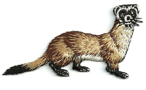 Ferret-black Footed Embroidered Iron on Applique Patch Cool Patch Iron On