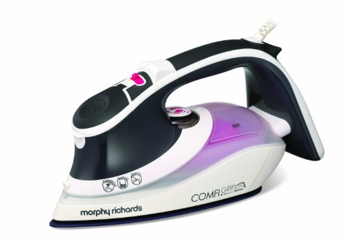 Morphy Richards Eco ComfiGrip 301012 2400 Watt Tri-zone Ionic Steam Iron - Charcoal/Pink