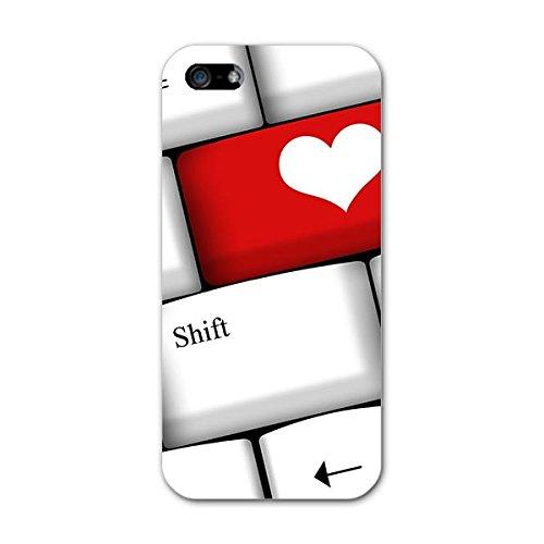 iphone5 ケース ハードケース スマコレ スマホケース オリジナルスマートフォンケース ハンドメイド 携帯ケースprint ハート キーボード pc アイフォーン アイフォーン ラブリー 002518 APPLE APPLE softbank ソフトバンク iphone5-002518-pc
