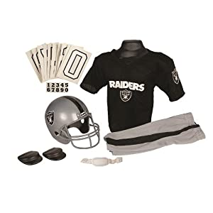 Franklin Sports NFL Raiders Deluxe Uniform Set - Medium from Franklin Sports