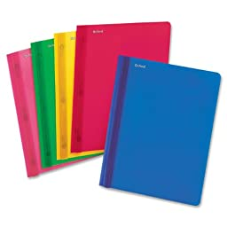 Clear Front Translucent Poly Report Covers, 8-1/2 x 11, Assorted Colors, 25/Box (ESS99812)
