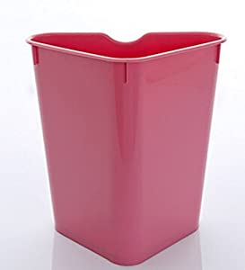 No cover fashion fresh and simple living room kitchen bathroom trash can pink - Pink kitchen trash can ...