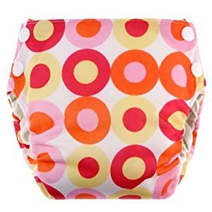Swaddlebees Simplex All in One Diaper, Small, Pink Lemonade