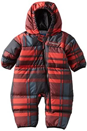Columbia Unisex Baby Snuggly Bunting, Bright Red Plaid, 12 Months