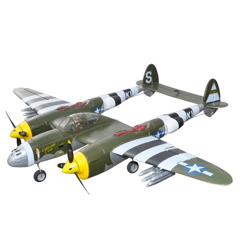 J-Power P-38 Lightning RC Airplane PNP - Green Camo - w/ESC & Servos
