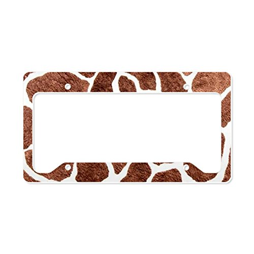 CafePress Giraffe skin print License Plate Holder License Holder - Standard