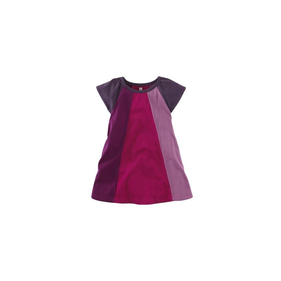 Tea Collection Baby Girls Mod Colorblock Dress, Acai, 18 24 Months