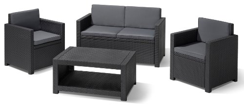 g nstige gartenm bel sets allibert 183313 lounge set monaco set rattanoptik kunststoff. Black Bedroom Furniture Sets. Home Design Ideas