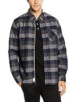 Timberland Camisa Hombre Ls Allendale Rvr (Azul / Gris)