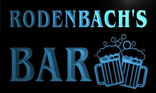 w120866-b-rodenbachs-name-home-bar-pub-beer-mugs-cheers-neon-light-sign