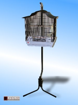 Cheap Dahak Large Black Tazmin Bird Cage And Matching Stand (PPD)