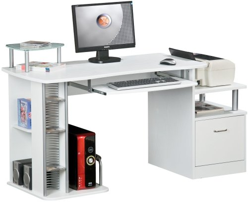 Piranha PC14s Large COMPUTER DESK with A4 Suspension File Drawer