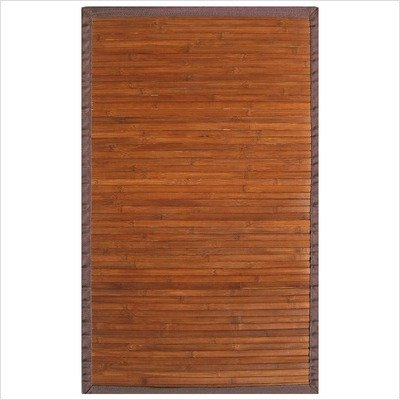 Contemporary Chocolate Bamboo Rug Size: 5' x 8'