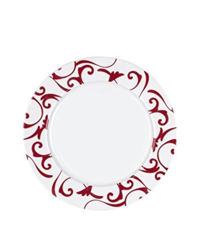 Guy DeGrenne 7.9″ Round Allegorie Dessert Plate, Red