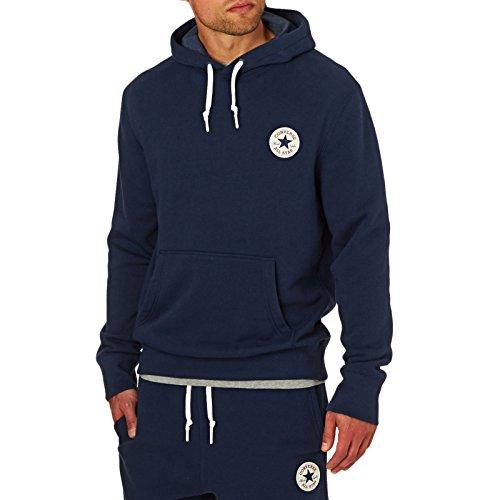 Converse Uomo Core Popover Logo Hoodie, Blu, Small