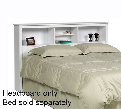 Best Review Of Prepac Monterey White Queen Storage Headboard