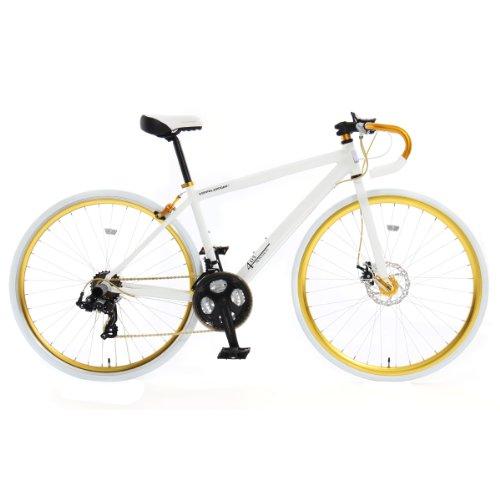 DOPPELGANGER(ドッペルギャンガー) 403 monarch 700x26C ロードバイク【軽量アルミフレーム】シマノ 21段変速 リジッドフォーク【フロントディスクブレーキ】LEDライト/鍵付 Liberoシリーズ